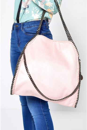 Jordan Chain Bag in Pink