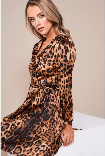 Lil leopard Print Wrap Dress