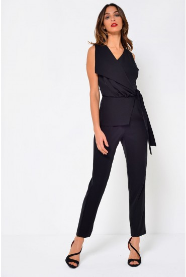 Tara Folded Jumpsuit in Black