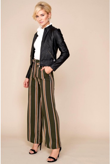 Lavish Alice Folded Over Wide Leg Woven Trousers
