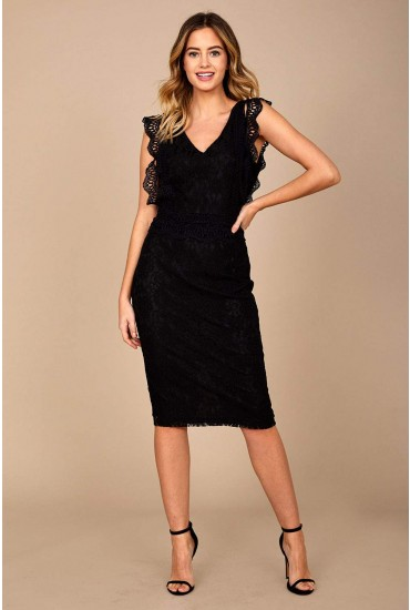 Nikki Lace Occasion Dress in Black