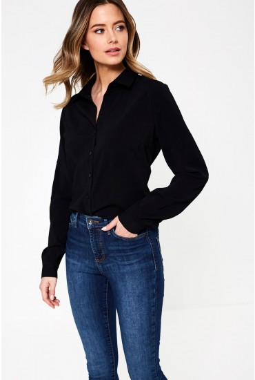 Laia Long Sleeve Shirt in Black