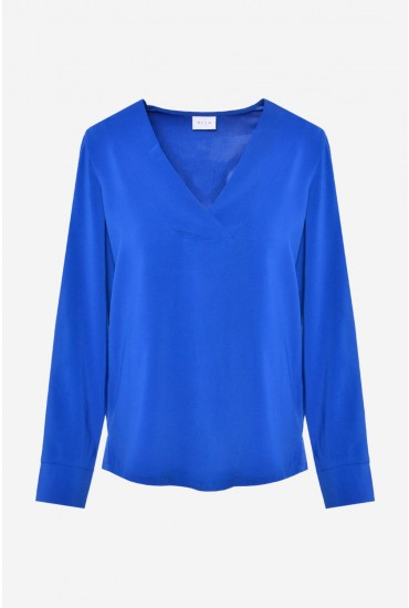 Laia Long Sleeve Top in Blue