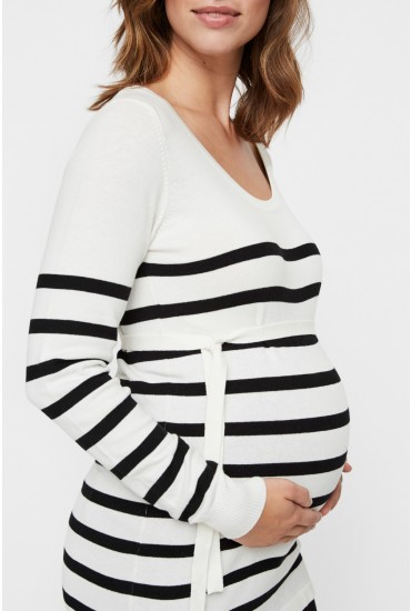 Langa Maternity Knit Top in White