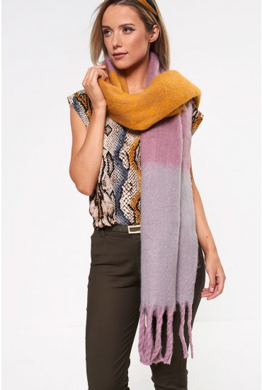 Laura Long Scarf in Yellow