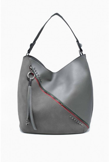 Kenni Leather Effect Boho in Grey