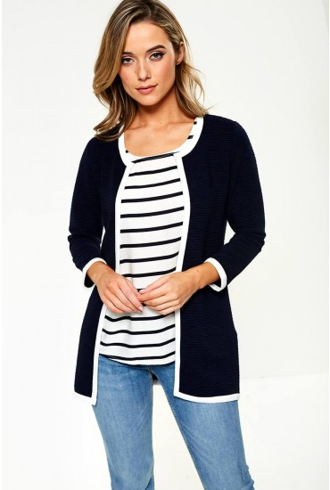 Leco Cardigan in Navy