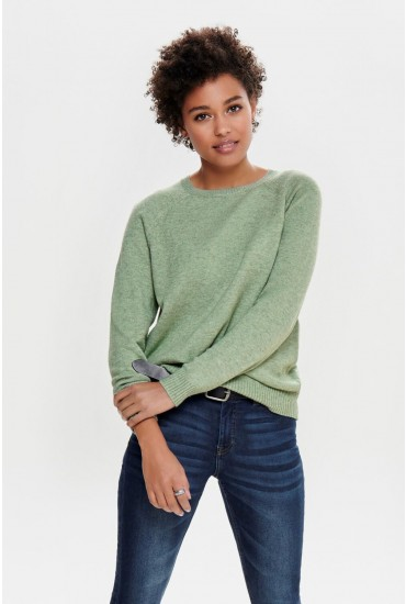 Lesly Long Sleeve Knit Jumper in Sage