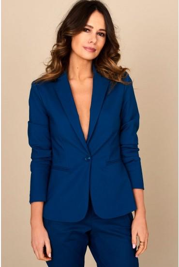 Victoria Long Sleeve Blazer in Teal