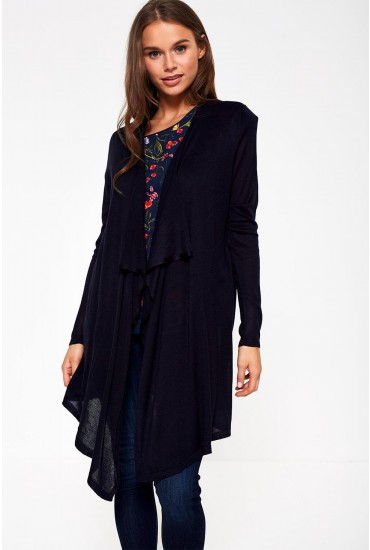 Mary Long Sleeve Cardigan in Navy