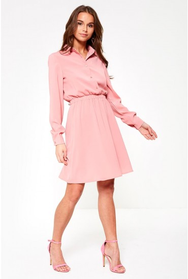 Laia Long Sleeve Dress in Bubblegum