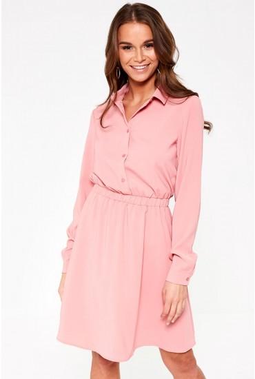Laia Long Sleeve Dress in Bubblegum