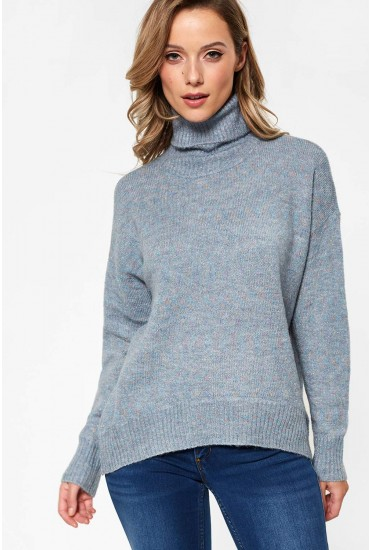 Duarte Long Sleeve Glitter Knit in Blue