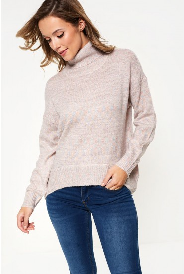 Duarte Long Sleeve Glitter Knit in Rose