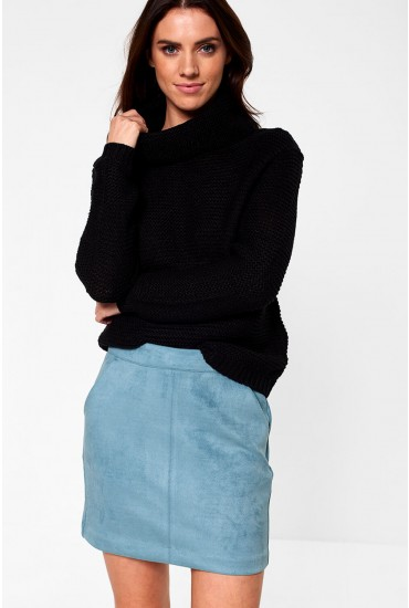 Baskina Long Sleeve Roll Neck Pullover in Black