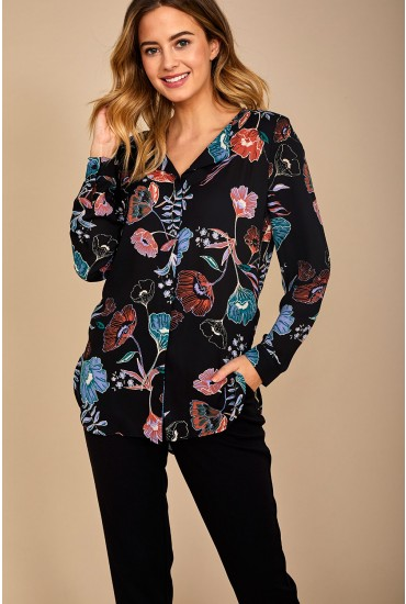 Lucy Long Sleeve Shirt in Floral Print