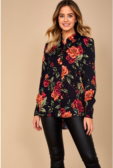 Rosi Long Sleeve Shirt in Floral Print