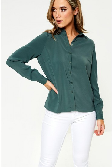 Laia Long Sleeve Shirt in Olive