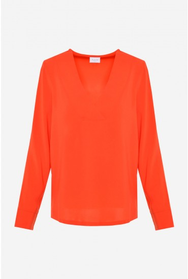 Laia Long Sleeve Top in Orange