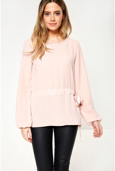 Sarina Long Sleeve Top in Rose