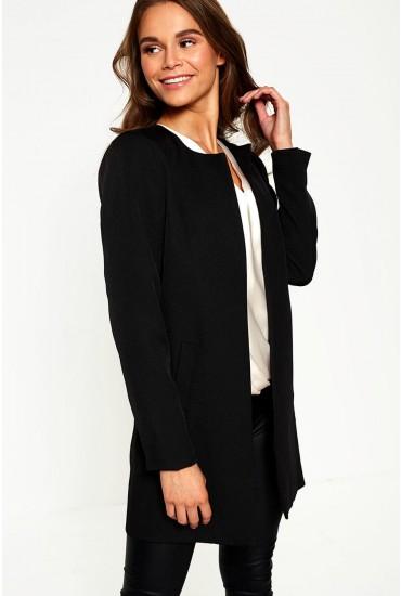 Aria Longline Blazer in Black