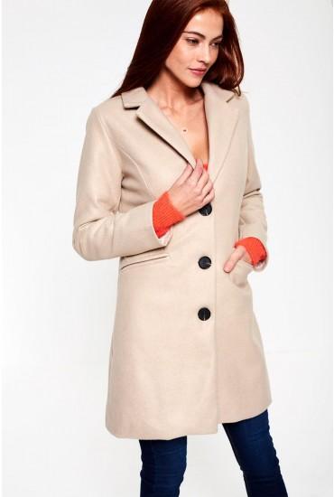 Louis Tailored Coat in Beige