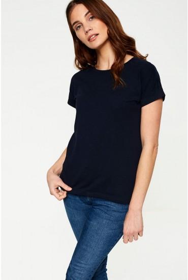 Louisa T-shirt in Navy