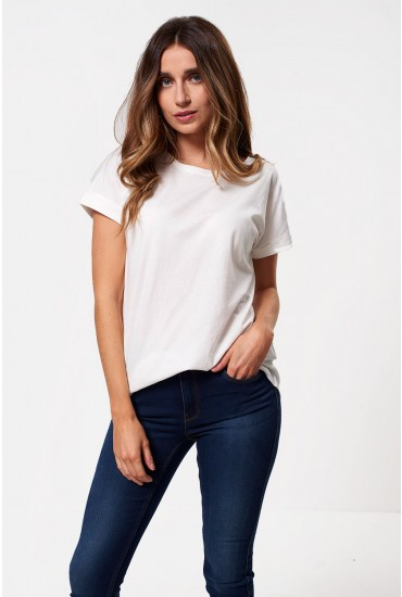 Louisa T-shirt in Off White