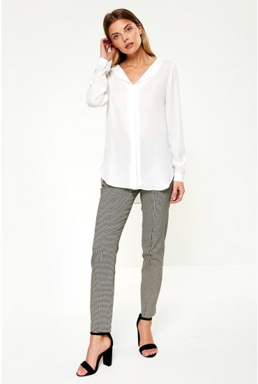 Lucy Long Sleeve Shirt in White