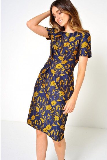 Luella Flower Brocade Dress