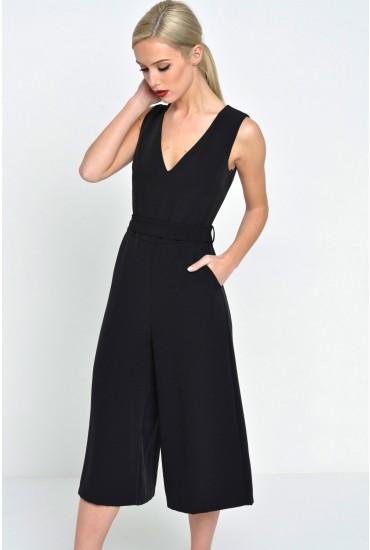 Donna Culotte Jumpsuit in Black