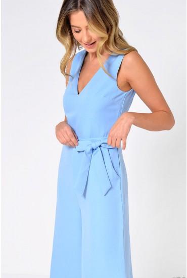 Donna Culotte Jumpsuit in Pale Blue