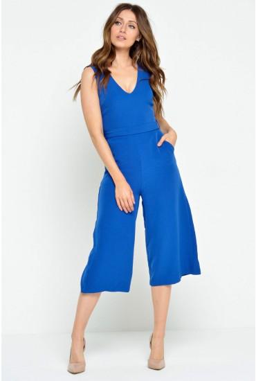 Donna Culotte Jumpsuit in Royal Blue