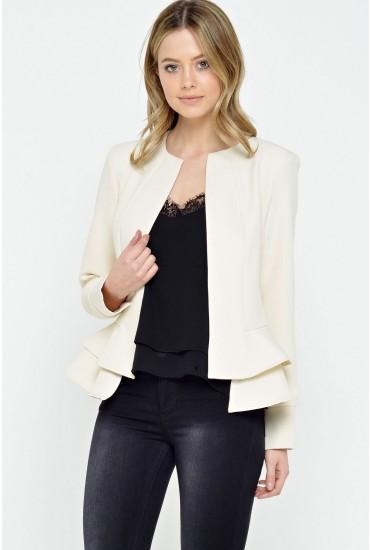 Lana Frill Jacket in Cream