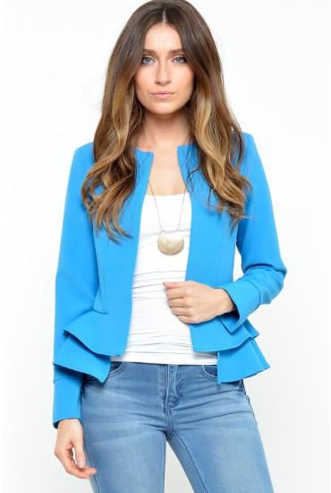 Lana Frill Jacket in Blue