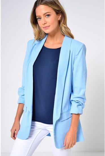 Frankie Longline Blazer in Pale Blue