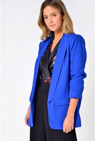 Frankie Longline Blazer in Royal Blue