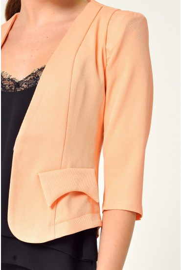 Kim Tailored Blazer in Peach