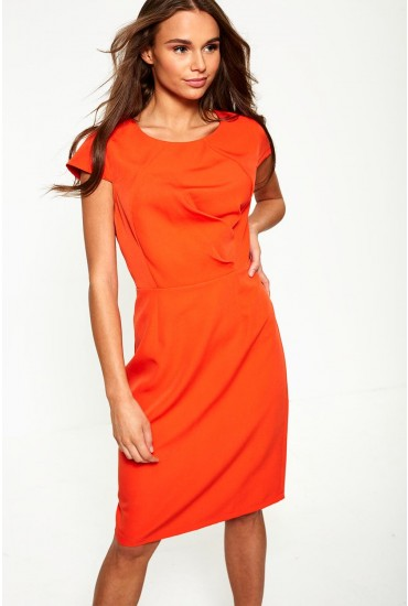 Victoria Midi Dress in Orange