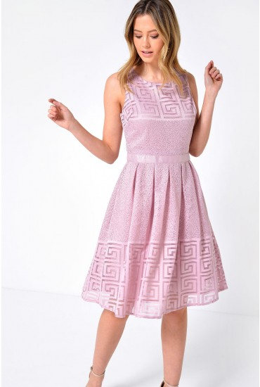 Sophia Skater Dress in Lilac
