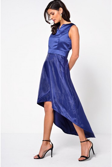 Olivia High Low Dress in Navy