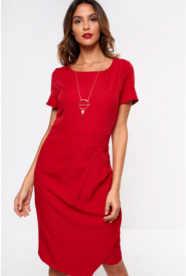 Akello Tulip Dress in Red