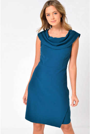 Julia Tailored Dress in Teal