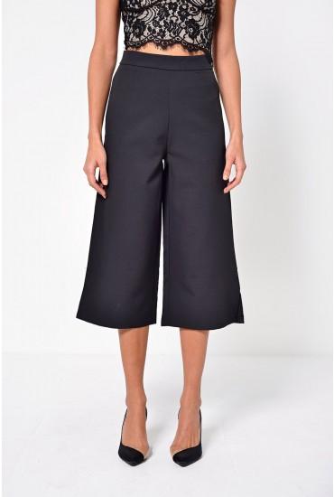 Harper Tailored Culottes in Black