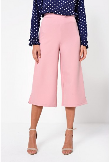 Harper Tailored Culottes in Blush
