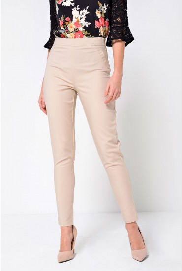 Milo Tailored Trousers in Beige