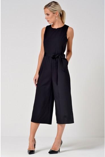 Layla Longline Culotte Jumpsuit in Black