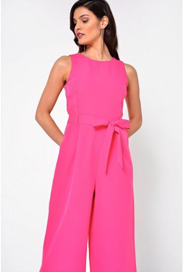 Layla Longline Culotte Jumpsuit in Pink