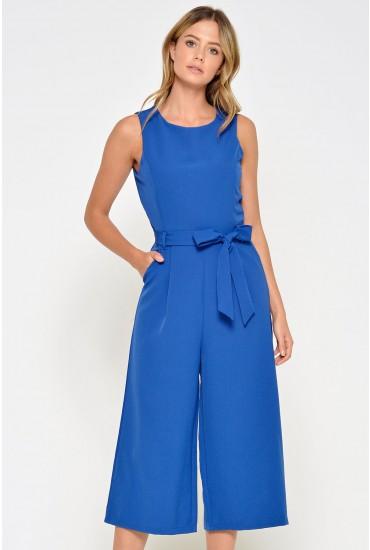Layla Longline Culotte Jumpsuit in Royal Blue