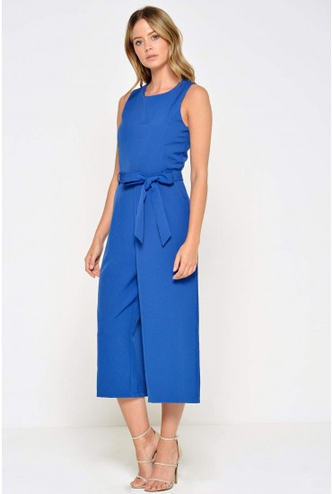 Layla Longline Culotte Jumpsuit in Royal Blue